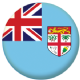 Fiji Country Flag 58mm Mirror Keyring